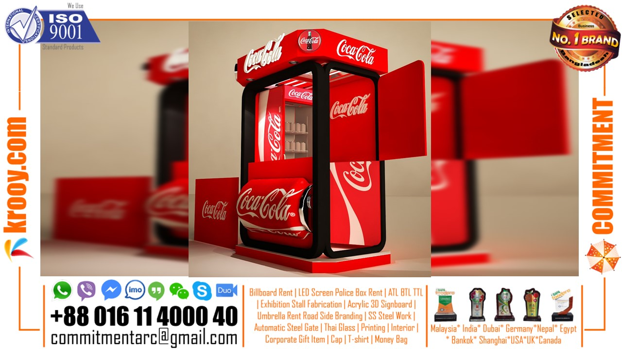 4 Side Open Exhibition Stall Design